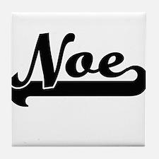Noe Classic Retro Name Design Tile Coaster