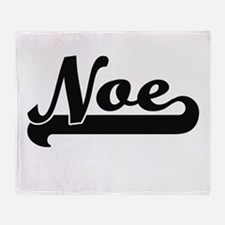 Noe Classic Retro Name Design Throw Blanket