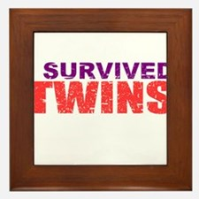 Twins survivor Framed Tile
