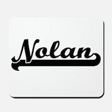 Nolan Classic Retro Name Design Mousepad