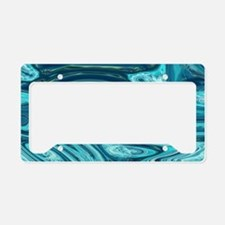 summer beach turquoise waves License Plate Holder