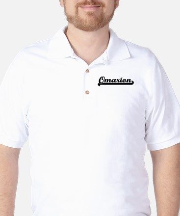 Omarion Classic Retro Name Design Golf Shirt