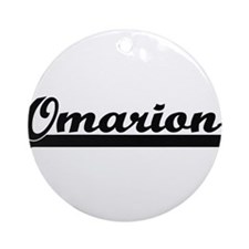 Omarion Classic Retro Name Design Ornament (Round)