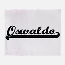 Oswaldo Classic Retro Name Design Throw Blanket