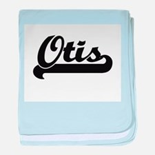 Otis Classic Retro Name Design baby blanket