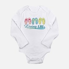 Cute Flip flopper Long Sleeve Infant Bodysuit