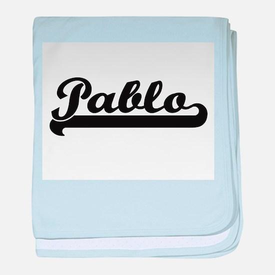 Pablo Classic Retro Name Design baby blanket