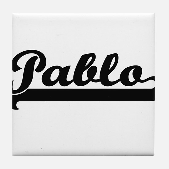 Pablo Classic Retro Name Design Tile Coaster