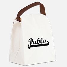 Pablo Classic Retro Name Design Canvas Lunch Bag