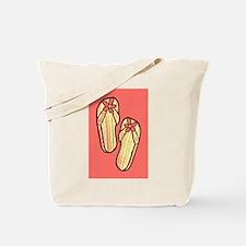 Yellow Flip Flops Tote Bag