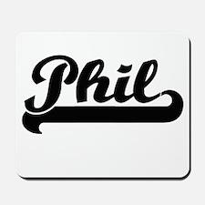 Phil Classic Retro Name Design Mousepad