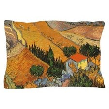 Van Gogh Valley w Ploughman Pillow Case