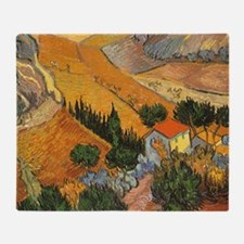 Van Gogh Valley w Ploughman Throw Blanket