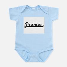 Pranav Classic Retro Name Design Body Suit