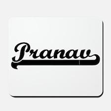 Pranav Classic Retro Name Design Mousepad