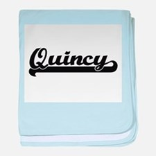 Quincy Classic Retro Name Design baby blanket