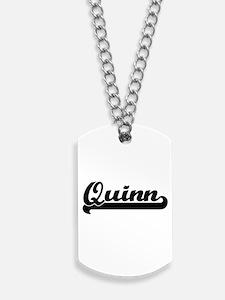 Quinn Classic Retro Name Design Dog Tags
