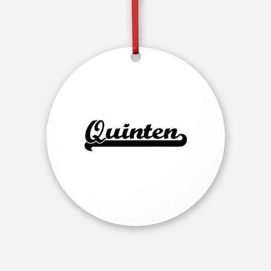 Quinten Classic Retro Name Design Ornament (Round)