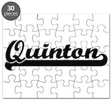 Quinton Classic Retro Name Design Puzzle