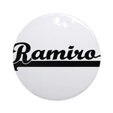 Ramiro Classic Retro Name Design Ornament (Round)