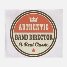 Band Director Funny Vintage Throw Blanket