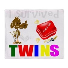 Twins humor Throw Blanket