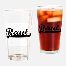 Raul Classic Retro Name Design Drinking Glass