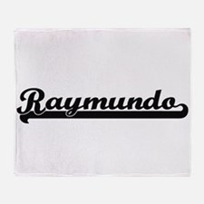 Raymundo Classic Retro Name Design Throw Blanket
