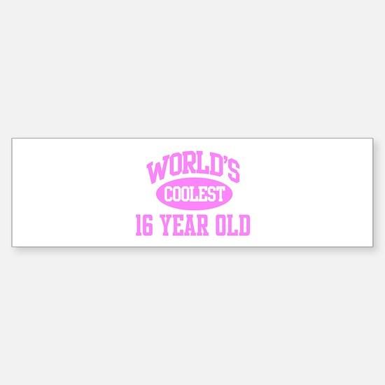 Coolest 16 Year Old Bumper Bumper Bumper Sticker