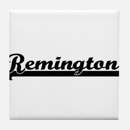 Remington Classic Retro Name Design Tile Coaster