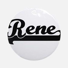 Rene Classic Retro Name Design Ornament (Round)