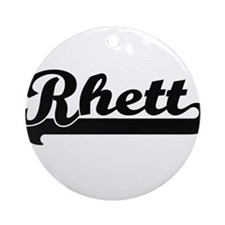 Rhett Classic Retro Name Design Ornament (Round)
