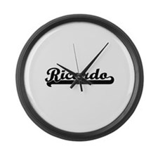 Ricardo Classic Retro Name Design Large Wall Clock