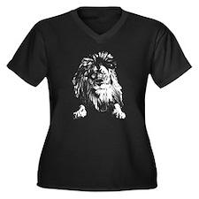 White Lion Plus Size T-Shirt