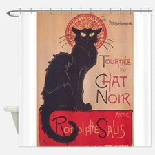 Chat Noir Vintage Poster Shower Curtain