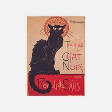 Chat Noir Vintage Poster 5'x7'area Rug
