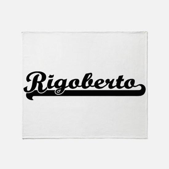 Rigoberto Classic Retro Name Design Throw Blanket