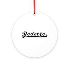 Rodolfo Classic Retro Name Design Ornament (Round)