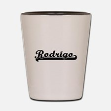 Rodrigo Classic Retro Name Design Shot Glass