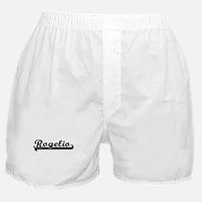 Rogelio Classic Retro Name Design Boxer Shorts