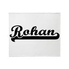 Rohan Classic Retro Name Design Throw Blanket
