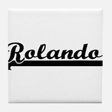 Rolando Classic Retro Name Design Tile Coaster