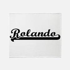 Rolando Classic Retro Name Design Throw Blanket