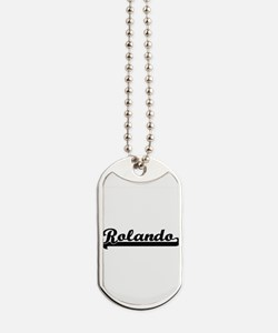 Rolando Classic Retro Name Design Dog Tags
