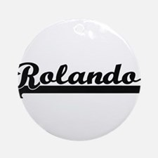 Rolando Classic Retro Name Design Ornament (Round)