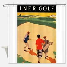 Lner Golf Vintage Poster Shower Curtain
