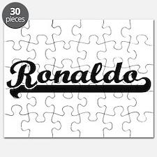 Ronaldo Classic Retro Name Design Puzzle