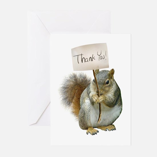 Squirrel Thank You Greeting Cards