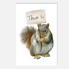 Squirrel Thank You Postcards (Package of 8)