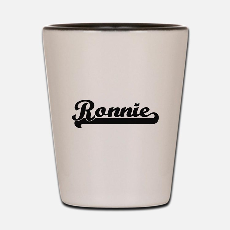 Ronnie Classic Retro Name Design Shot Glass